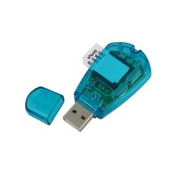 Eforcity Clear-blue USB2.0 Compact and Portable SIM Card Reader