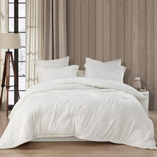 Coma Inducer Oversized Oversized Comforter - Wait Oh What - Farmhouse White