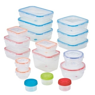 Easy Essentials Color Mates Assorted Food Storage Container Set, 36pc