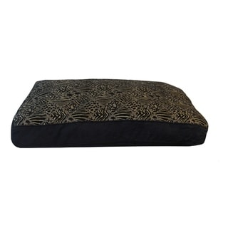 Westgate Black Plush Animal Print Medium to Large Pet Bed