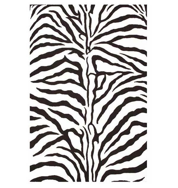 Hand-tufted Zebra Stripe Wool Rug (8' 9 x 13)