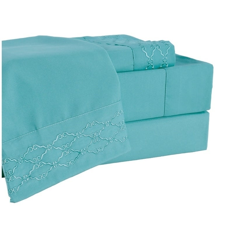 Porch /& Den Hanson Embroidered Extra Soft Microfiber Deep