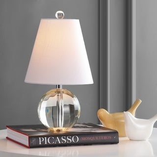 """Goddard 16"""" Crystal Ball/Metal LED Table Lamp, Clear by JONATHAN Y"""
