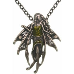 CGC Pewter 'Moonstone' Artist Fairy Necklace
