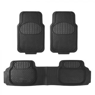 FH Group Heavy Duty Touchdown Rubber Trimmable Floor Mat (Full Set Trim to Fit)