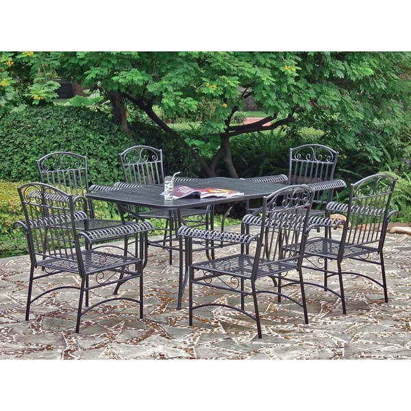 International Caravan Iron Tropico 7-piece Patio Set