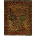 Safavieh Handmade Heritage Kerman Burgundy Wool Rug (5' x 8')