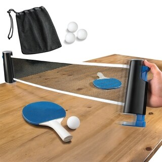 Game Table Top Tennis Retractable Go Anywhere
