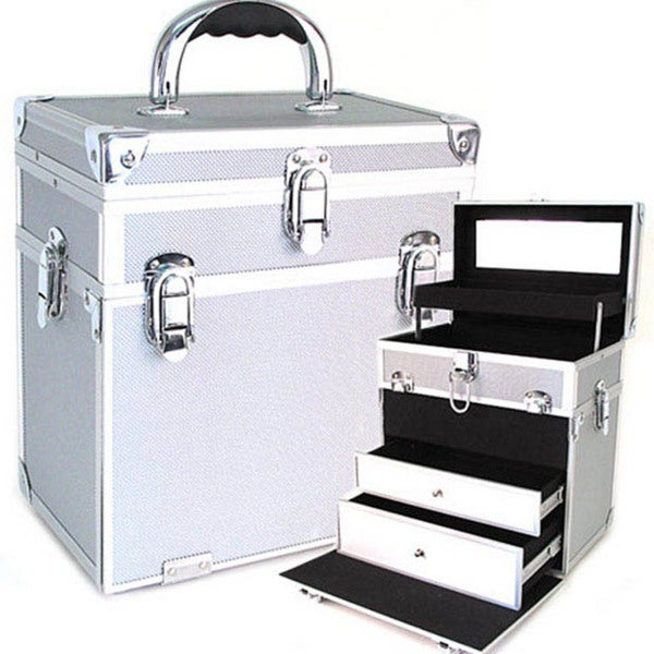 Seya Silver Two-in-one Cosmetic Case with Drawers
