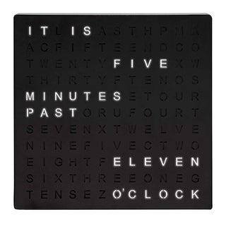 """Table Top Word Clock LED - 7.75"""" x 1.13"""" x 7.75"""""""