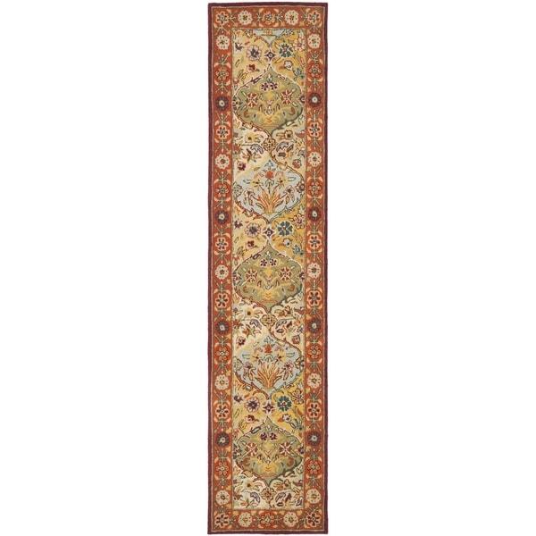 Safavieh Handmade Heritage Bakhtiari Multi/ Red Wool Runner (2'3 x 8')