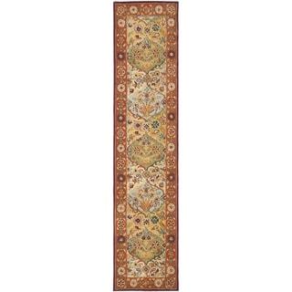 Safavieh Handmade Heritage Bakhtiari Multi/ Red Wool Runner (2'3 x 10')