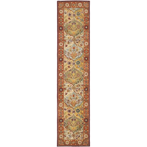 Safavieh Handmade Heritage Bakhtiari Multi/ Red Wool Runner (2'3 x 12')
