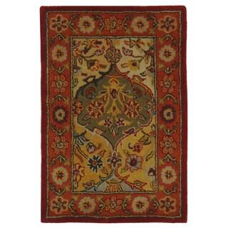 Handmade Heritage Bakhtiari Multi/Red Wool Area Rug (3' x 5')