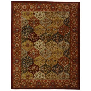 Handmade Heritage Bakhtiari Multicolored/Red Wool Area Rug (5' x 8')