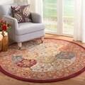 Safavieh Handmade Heritage Bakhtiari Multi/Red Wool Area Rug (6' Round)