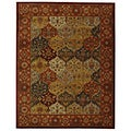 Oriental Handmade Heritage Bakhtiari Multi/Red Wool Rug (8'3 x 11')