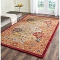 Safavieh Handmade Heritage Bakhtiari Multi/ Red Wool Rug (9'6 x 13'6)