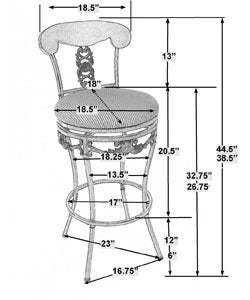 Braillen Extension Leg Adjustable Height Stool