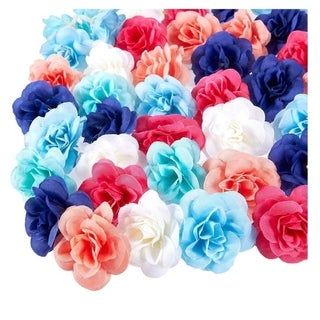 60PCS Artificial Rose Flower Heads Bulk Wedding Baby Showers Crafts, Mix, 3""