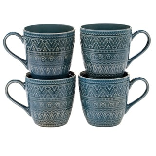 Certified International Aztec Mugs, Set of 4