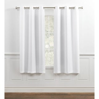 Chaps Home Lise Solid Textured Linen Look Grommet Top Curtain Panels
