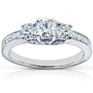 Annello 14k Gold 1/2ct TDW Diamond Engagement Ring (H-I, I1-I2)