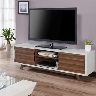 Furniture of America Neva Mid-Century 62-inch White TV Stand