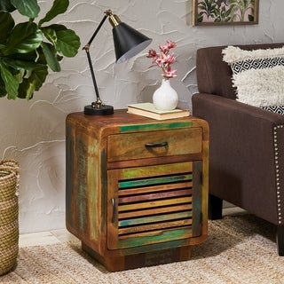 Appoline Boho Handcrafted Reclaimed Wood Cabinet by Christopher Knight Home