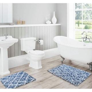 Lush Diamond Jacquard Bath Mat Set