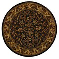 Safavieh Handmade Sultanabad Charcoal Grey/ Ivory Wool Rug (8' Round)