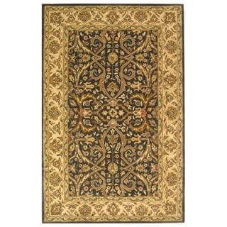 Handmade Sultanabad Charcoal Grey/ Ivory Wool Rug (9'6 x 13'6)