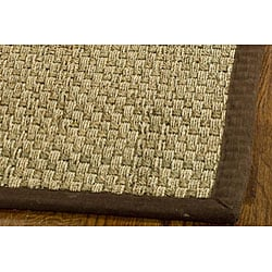Hand-woven Sisal Natural/ Brown Seagrass Runner (2'6 x 8')