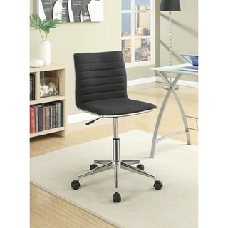 Chelmsford Tilt Armless Office Chair with Casters