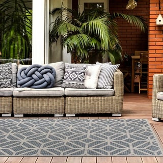 Modern Contemporary Geometric Indoor/Outdoor Area Rug