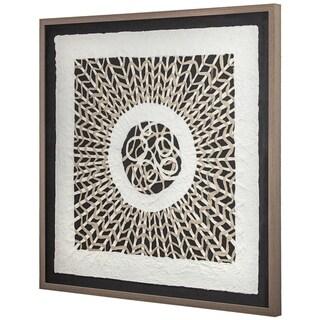 "Handmade Rice Paper Wall Art (31"" x 31"")"