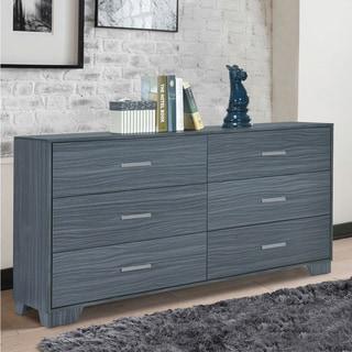 Porch & Den Augustine Dark Grey Oak 6-drawer Dresser