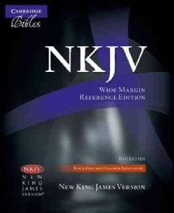 Holy Bible: New King James Version, Black, Goatskin, Wide Margin Reference Bible (Paperback)