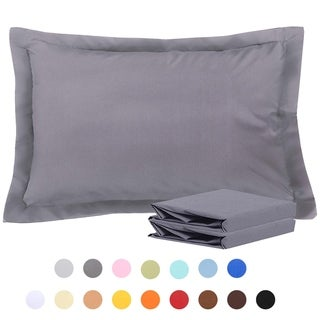 NTBAY Microfiber Pillow Shams Set of 2, Soft and Cozy
