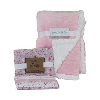 Etched Cloud & Galaxy Baby Blankets Gift Set