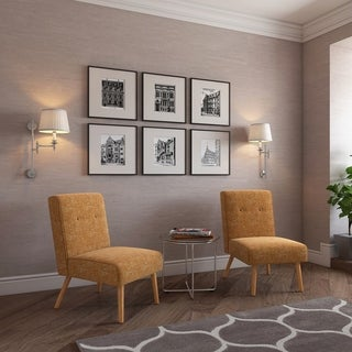 Carson Carrington Trondelag Button Tufted Armless Chair (Set of 2)