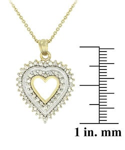 DB Designs 18k Gold over Silver 1/2ct TDW Diamond Necklace