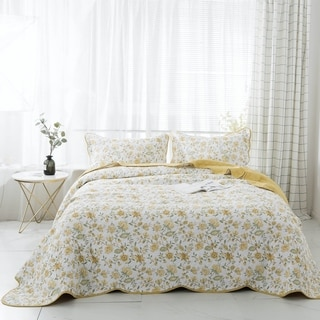 Kasentex Cotton Reversible 3-Piece Oversize Quilt Set