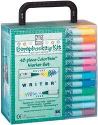 Zig ColorTwin 48-piece Marker Set