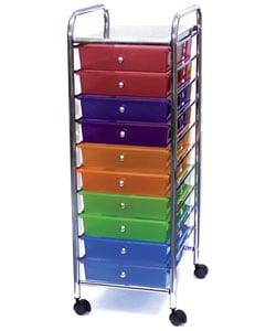 Cropper Hopper Multicolor Home Center Rolling Cart