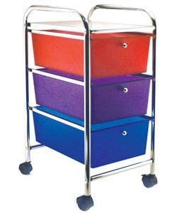 Cropper Hopper Multi-Colored 3-Drawer Rolling Cart