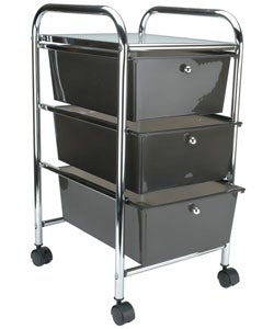 Cropper Hopper Home Center Rolling Cart (Smoke)