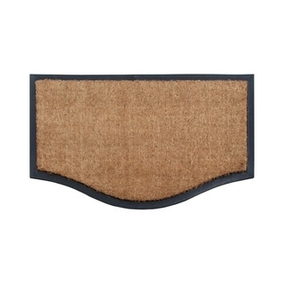 "A1HC Rubber And Coir Black/Beige Extra Large Double Doormat,Heavy Duty,Non-Slip 23.6""X37.4"""