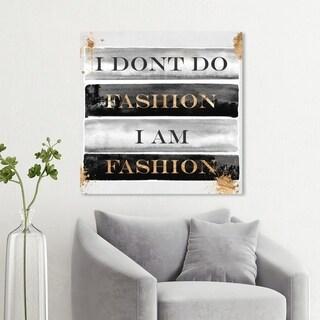 Wynwood Studio 'I Am Fashion Books' Typography and Quotes Wall Art Canvas Print - Black, Gray