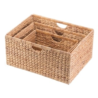 Foldable Natural Water Hyacinth Storage Bin